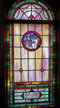 Stained Glass Windows at Hickory Grove Baptist Church in Rowesville, SC