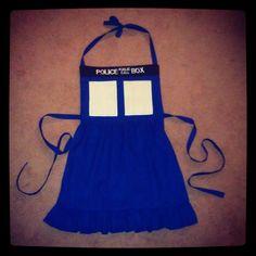 I think I would like this for Christmas.   @Wendi Hudson  Doctor Who Tardis Apron. $40.00, via Etsy.