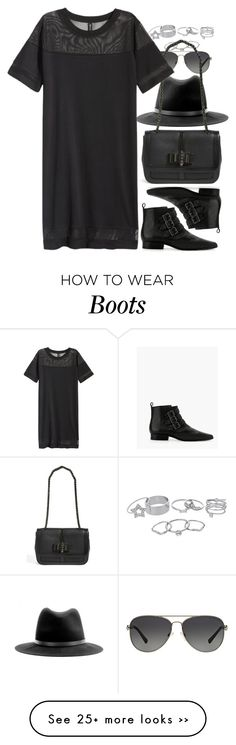 """""""Untitled #7034"""" by nikka-phillips on Polyvore featuring Michael Kors, rag & bone, Lipsy, Christian Louboutin, H&M and MANGO"""