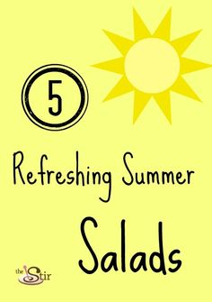 Nothing like a fresh salad to beat the summer heat. http://thestir.cafemom.com/food_party/123939/5_refreshing_summer_salads_to?utm_medium=sm_source=pinterest_content=thestir