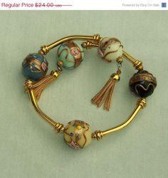 ON SALE Vintage Wrap Bracelet Venetian Wedding by 4dollsintime, $24.00