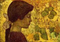 Aristide Maillol. Profil de jeune file,1891.