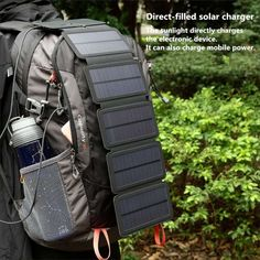 SunPower Portable Solar Panels for Smartphones! Features: Solar charger for Smartphones. Size: expand Color: black Charger: solar panel 4 folding is 5 folding Input voltage: Output current: Package: charger, hook, compass, box. Portable Solar Panels, Solar Energy Panels, Best Solar Panels, Solar Energy System, Solar Power, Solar Panel Charger, Solar Panel System, Wind Charger, Usb