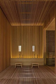 26 spa-inspired bathroom decorating ideas - Amazing spa bathroom design inspired by wood In modern cities, it is sort of impossible to sit down within a house with . Spa Design, Spa Bathroom Design, Bathroom Spa, Home Design, Wood Bathroom, Design Ideas, Modern Bathroom, Garden Bathroom, Relaxing Bathroom