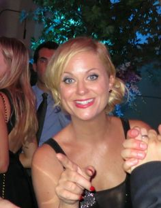 Amy Poehler having a great time at the Variety and Women In Film Pre-Emmy Party