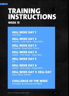 Décimo quinta semana de trabajo. #week15 #freeletics