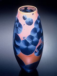 Crystalline Glazed Pottery by Louise Reding of the San Diego Potter's Guild