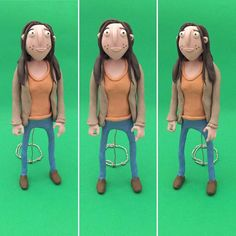 Just the model stood up in full colour #stopmotion #stopmotionanimation…