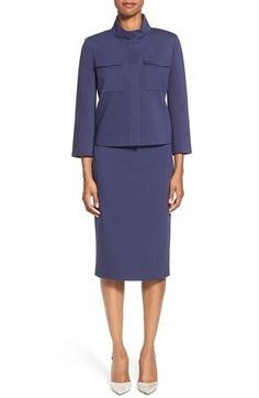 Classiques Entier® Italian Ponte Jacket & Pencil Skirt available at #Nordstrom