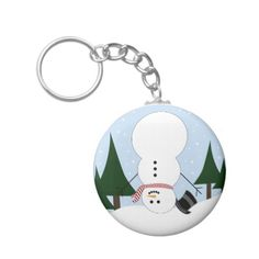 Upside-down Snowman Key Chain | Find this design and others on a variety of products. #designedwithtlc #personalizedgifts #customizeit