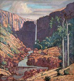 Jacobus Hendrik Pierneef Art Images, Art Pictures, Art Pics, African Paintings, South African Artists, Africa Art, Love Art, Landscape Paintings, Art Drawings