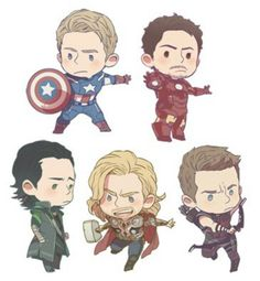 Some of the boys in chibi form.
