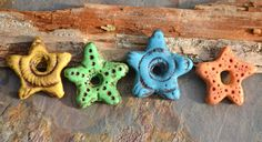 Tutorial for making these polymer clay star beads. Art Jewelry Elements: Seeing Stars and Component of the Month Winners