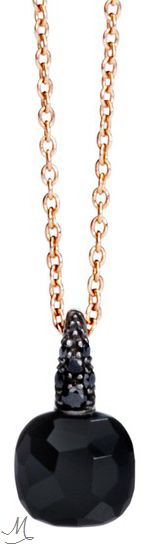 """Pomellato Black Onyx & Black Diamond """"Capri"""" Pendant"""
