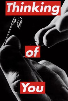 thinking of someone and hurting like your getting pricked by a needle dark color to express pain Barbara Kruger, Guerrilla Girls, Political Art, A Level Art, Feminist Art, Expressions, Conceptual Art, Jasper Johns, Photomontage