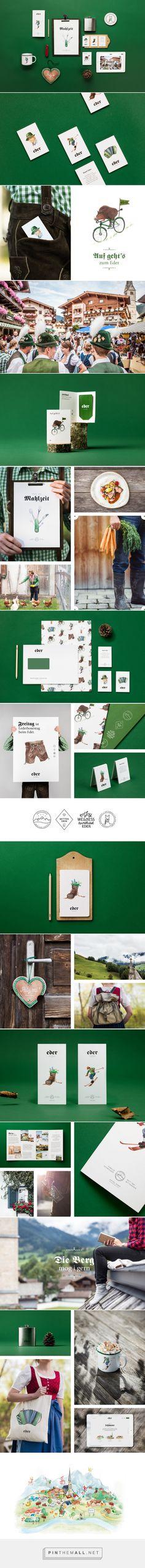 Hotel Eder - Branding on Behance - created via https://pinthemall.net