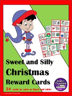 24 Sweet and Silly Christmas Classroom Reward Cards/Coupons in color and black and white allow your students to have some fun while celebrating success in December and during the holidays. These incentives will help motivate your students while they celebrate Christmas. Classroom Reward Coupons, Christmas Activities For Kids, Christmas Ideas, Health Lesson Plans, February Holidays, December, Teacher Resources, Teaching Ideas, Color Activities