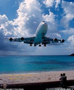 Boeing 747-228BM landing in St. Maarten