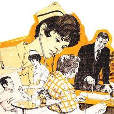 Celebrating illustration, design, cartoon and comic art of the century. Vintage Art, Comic Art, The Darkest, The Past, Colours, Cartoon, Sunset, Comics, Magazine Covers