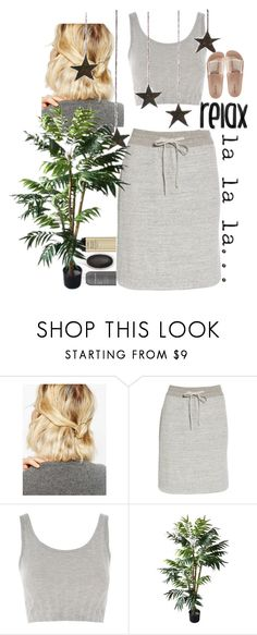"""""""Friday night with bar"""" by youngsmile on Polyvore featuring WithChic, James Perse, Topshop and Bamboo"""
