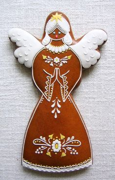 Today we are looking at Moravian and Bohemian gingerbread designs from the Czech Republic. Back home, gingerbread is eaten year round and beautifully decorated cookies are given on all occasions. Gingerbread Decorations, Gingerbread Man, Gingerbread Cookies, Santa Cookies, Holiday Cookies, Christmas Themes, Christmas Ornaments, Holiday Decor, Contemporary Decorative Art