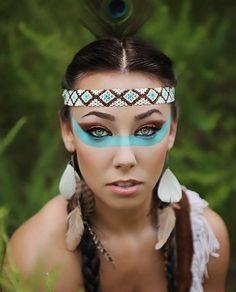 fasching schminken karneval indianerin