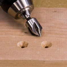 Countersinks that Works: My countersinks produced rough and wavey holes, which kept me from using them much ... until I tried them in reverse ... and BAM! ... smooth holes! #woodworking #tools #diy