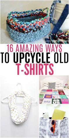 Amazing Ways to Upcycle Old T-Shirts #UpcycleIdeas #DIYFun #UpcycleTShirts