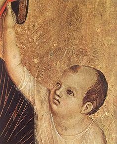Duccio di Buoninsegna - Madonna di Crevole, dettaglio - 1283-84 - Museo dell'Opera del Duomo, Siena