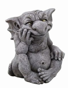 Large-Comical-Goblin-Gargoyle-Scheming-Statue-Sculpture-Grotesque-Handpainted