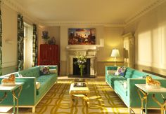 A vibrant drawing room by RCD in a Georgian Bloomsbury townhouse