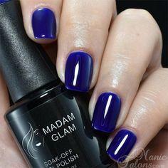"""Madam Glam Gel - """"Electric Blue"""" - Big 5 Free Soak Off Gel Polish - beautiful…"""