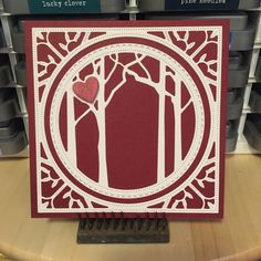 Die:  Memory Box - Woodland Heart Frame #memoryboxco