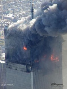 Aerial pictures, many never seen before, of the September 11 2001 attacks on the World Trade Center in New York City. NEVER FORGET World Trade Center, Trade Centre, We Will Never Forget, Lest We Forget, New York, 11 September 2001, North Tower, Aerial Images, Sad Day