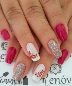 Best Nail Art Designs 2018 Every Girls Will Love These trendy Nails ideas would gain you amazing compliments. Check out our gallery for more ideas these are trendy this year. Rose Nails, Pink Nails, Gel Nails, Acrylic Nails, Best Nail Art Designs, Acrylic Nail Designs, Stylish Nails, Trendy Nails, Gorgeous Nails