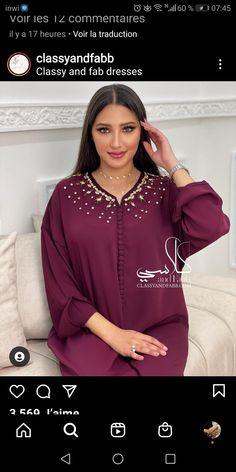 Caftans, Ramadan, Dresses With Sleeves, Business, Long Sleeve, Outfits, Clothes, Fashion, Kaftans