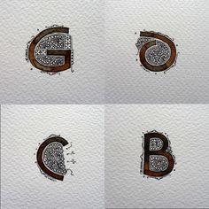 Anachropsy - Calligraphie latine par Benoit Furet - Terminé