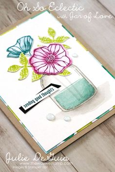 Oh So Eclectic and Jar of Love for Global Design Project 092 | Stampin' Up! | handmade cards | rubber stamping | Julie DeGuia | The Way We Stamp | watercolor