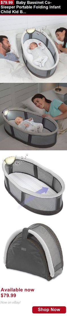 Baby Co-Sleepers: Baby Bassinet Co-Sleeper Portable Folding Infant Child Kid Basket Compact Fold BUY IT NOW ONLY: $79.99