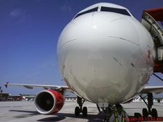 Closeup of airplane nose by  Kenny #travel #asia #airasia