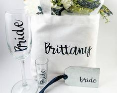 Home Interior De Mexico Personalized Canvas Tote and Tag Custom Gift Bag Wedding Gifts For Couples, Personalized Wedding Gifts, Customized Gifts, Cheap Wall Decor, Cheap Home Decor, Custom Gift Bags, Asking Bridesmaids, Decor Logo, Country House Interior