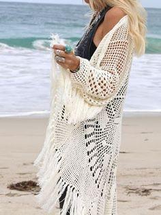 Outstanding Crochet: Boho Crochet Mandala Cardigan from Spell.