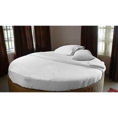Scala Home Fashions Inc. 400 Thread Count Egyptian Quality Cotton Round Bed Sheet Set - Walmart.com