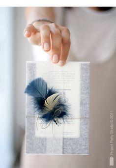 feather invitation | Te invito a mi boda (II) |