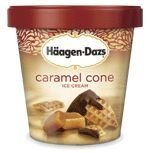 Haagen Dazs Caramel Cone ice cream. My new favorite, along with an oldie but goodie, Butter Pecan.