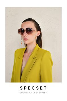 Chic Gold Snae Chain features Colorful Ceramic Beads   SPECSET #eyewear #accessoryjewelry #goldnecklace #colorful #beachstyle #summerstyle #sunglassesfashion #eyeglassholder #eyeglasses #womensjewelry #specset #giftforher #facemask #accessories #elegant #aesthetic #eyewearfashion Trending Sunglasses, Sunglasses Women, Jewelry Accessories, Women Jewelry, Eyeglass Holder, Ceramic Beads, Eyewear, Blazer, Eye Glasses