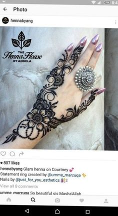 Mehndi design love how the ink & jewelry compliment each other Best Mehndi Designs, Bridal Mehndi Designs, Mehndi Designs For Hands, Henna Tattoo Designs, Mehandi Designs, Hand Tattoos, New Tattoos, Tattoo Arm, Mandala Tattoo