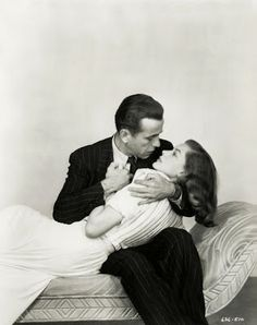 Bogart and Bacall - RIP Lauren Bacall. You were awesome in the true sense of the word.