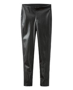Mid-rise Slim Leather Pencil Pants