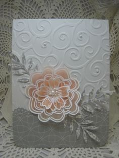 Hero Arts layered vellum flower card